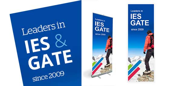 GATE IES Coaching Institute pull up banner design