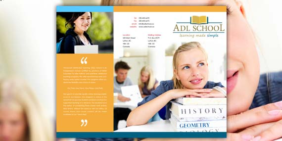 ADL School - Brochure design