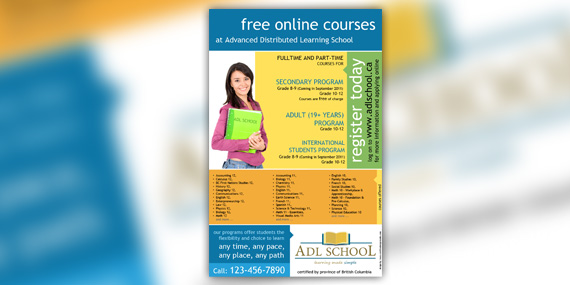 ADL School - Flyer design