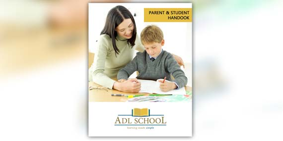 ADL School - Student handbook cover page