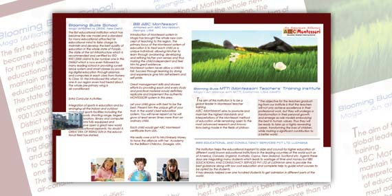 BBS Group - Brochure design (inside)