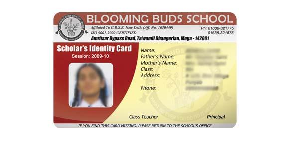 BBS, Moga - ID card design