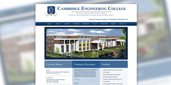 Cambridge Engineering College -  Web Design
