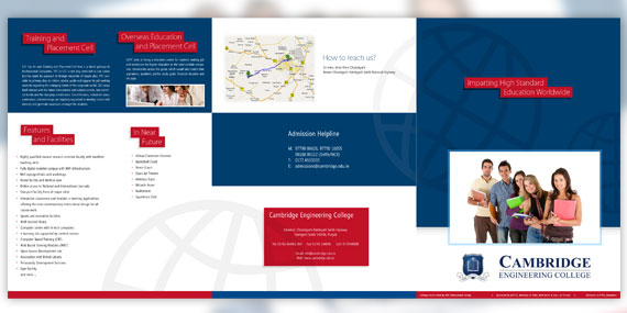 Cambridge Engineering College - Tri-fold Brochure Design (Page 1)