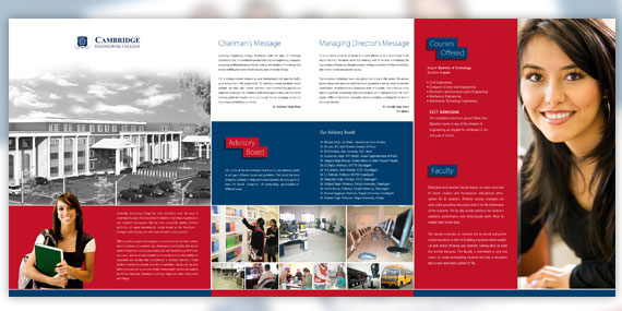 Cambridge Engineering College - Tri-fold Brochure Design (Page 2)
