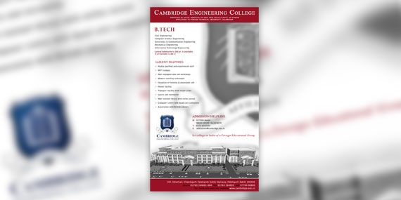 Cambridge Engineering College - Flyer Design