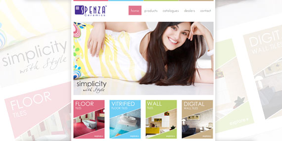 Spenza Ceramics - Website Design