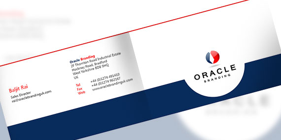 Bi-fold Business Card Design - Outside