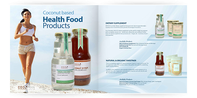 Coconut Products - Catalogue Design