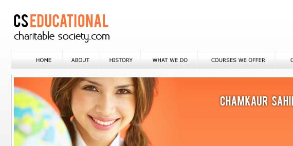 CS Educational Society - Web design