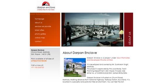Darpan Enclave - Website (Subpage)