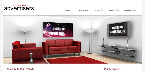 Davindra Advertisers - Website