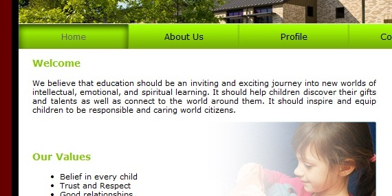 School Web  Template