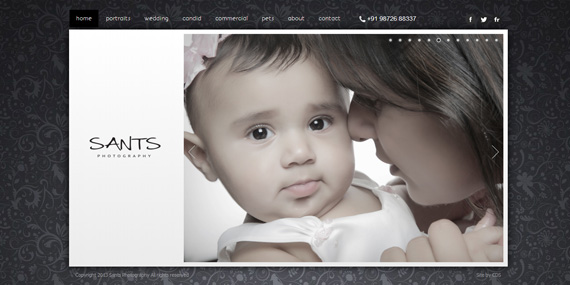 Family Photography - Portfolio website - Sants Photography