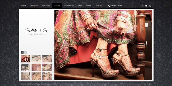 Candid Photography - Portfolio website - Sants Photography