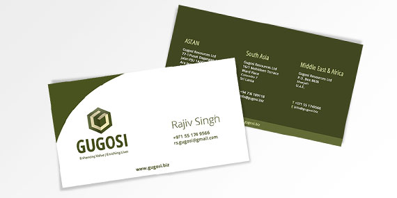 Business Card Design - Gugosi Resources Ltd