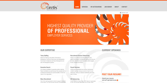 HR Outsourcing Website Design