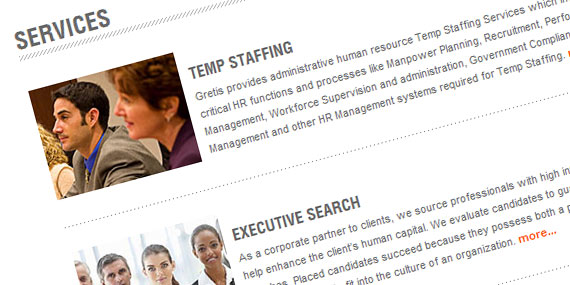 HR Outsourcing Website - Services Page