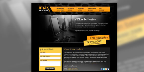 IMAX Traders Web Design