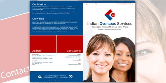 Indian Overseas Services - Brochure Design (Cover page)