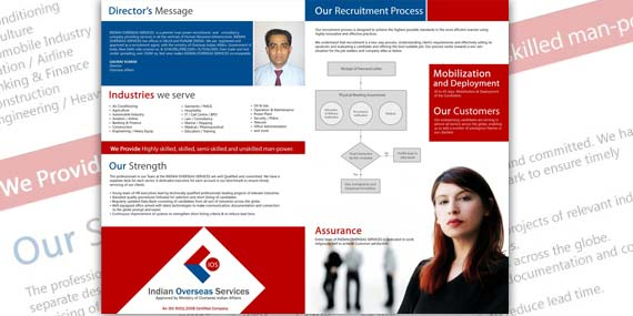 Indian Overseas Services - Brochure Design (inside)