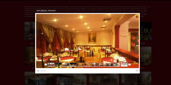 Indian Restaurant website - Photo Gallery