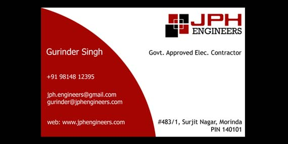 JPH Engineers - Business Card