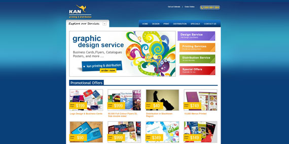 Kan Printing and Distribution Website Design