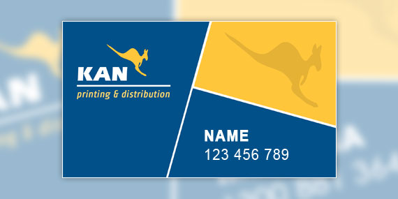 Kan Printing and Distribution Business Card Design