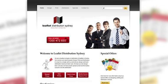 Leaflet Distribution Sydney - Web Design