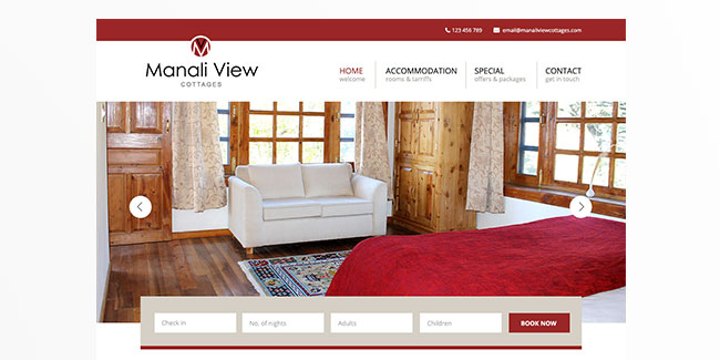 Manali View Cottages - Website Design
