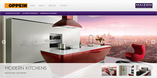 kitchen web design. Modular Kitchens Furniture Website Design Web and Development Portfolio