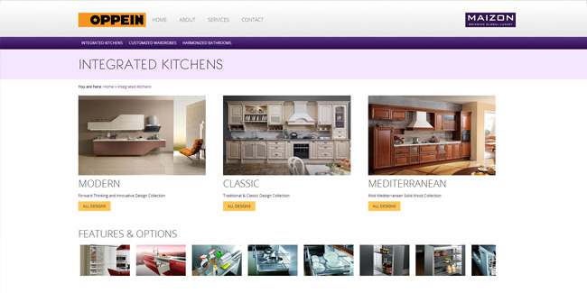 Modular Kitchens Furniture Website Design