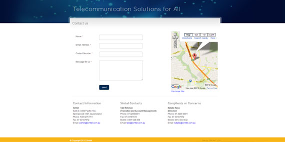 Web design  - Telecommunication Website