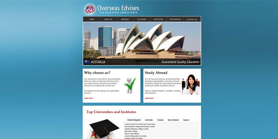Overseas Edvises - Web Design