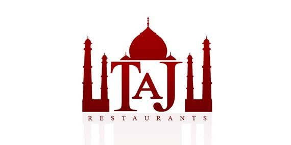 Taj Restaurants Logo Design