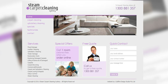Steam Carpet Cleaning Sydney - Website - Homepage