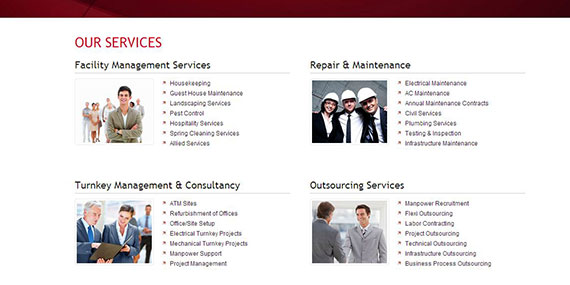 Services Page design