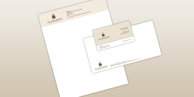 Tall Trees Resort Manali - Business Stationary Design